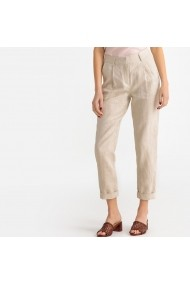 Pantaloni drepti La Redoute Collections GFX505 bej