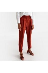 Pantaloni drepti La Redoute Collections GFX505 maro - els
