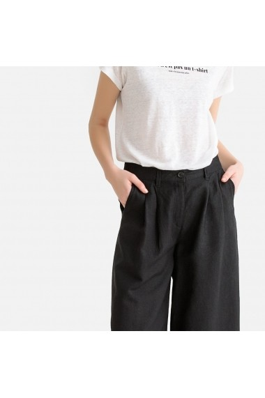 Pantaloni trei sferturi La Redoute Collections GFR838 negru