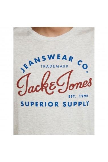 Tricou JACK & JONES GGW838 alb