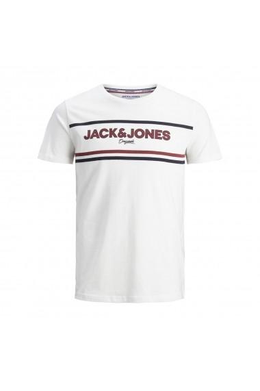 Tricou JACK & JONES GGW918 alb