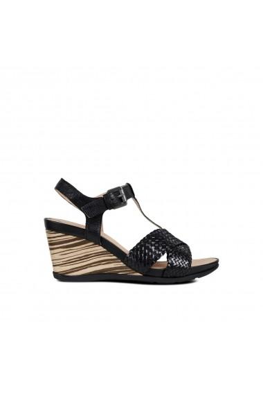 Sandale cu platforma GEOX GGH315 negru