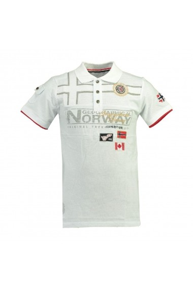 Tricou Polo GEOGRAPHICAL NORWAY GGP107 alb
