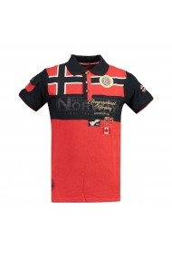Tricou Polo GEOGRAPHICAL NORWAY GGP107 rosu