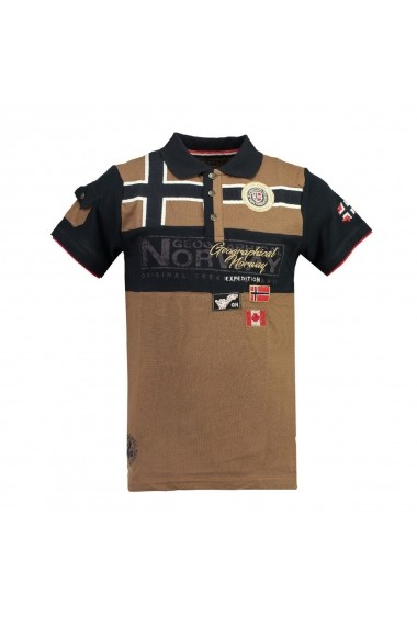 Tricou Polo GEOGRAPHICAL NORWAY GGP107 gri-bej