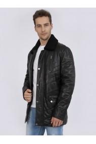 Jacheta din piele Sir Raymond Tailor SI3966011 Negru