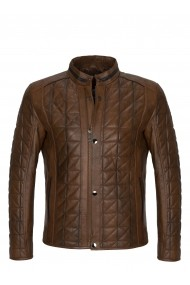Jacheta din piele Paul Parker MAS-PA1738486-CHESTNUT Maro