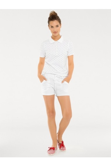 Tricou Polo heine CASUAL 007315 alb