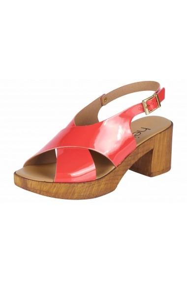 Sandale cu toc Heine 73690142 corai