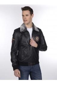 Jacheta din piele Giorgio di Mare GI2508512 Negru - els