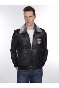 Jacheta din piele Giorgio di Mare GI2508512 Negru
