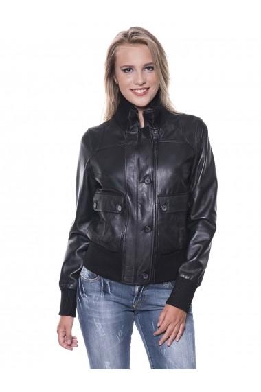 Jacheta din piele Giorgio di Mare GI4462939 Negru
