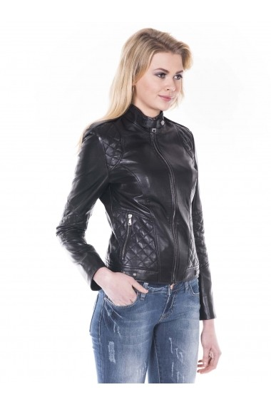 Jacheta din piele Giorgio di Mare GI8049402 Negru