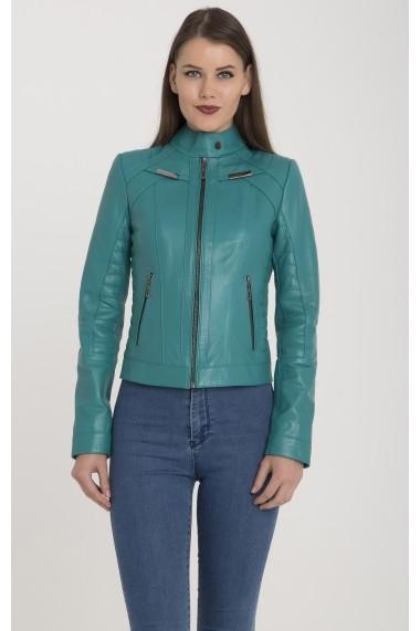Jacheta din piele Giorgio di Mare GI9338706 Turcoaz