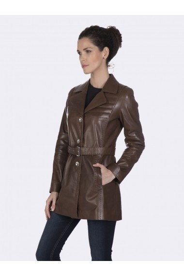 Jacheta din piele Giorgio di Mare GI7260394 Maro