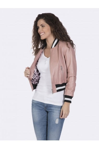 Jacheta din piele Giorgio di Mare GI1840184 Roz