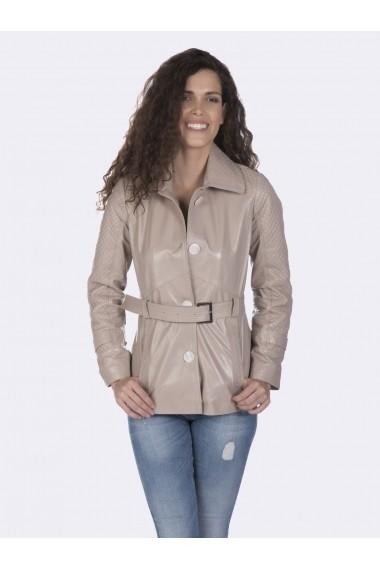 Jacheta din piele Giorgio di Mare GI9601917 Bej