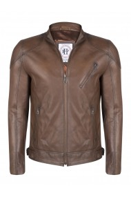 Jacheta din piele FELIX HARDY FE8909293 Maro