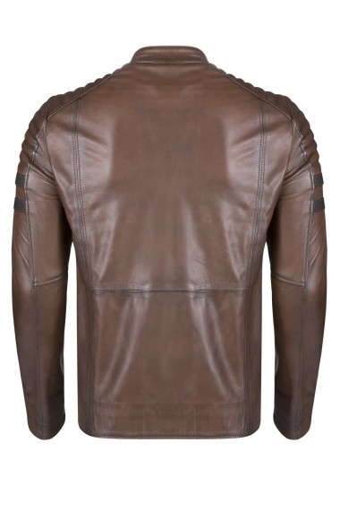 Jacheta din piele FELIX HARDY FE9253797 Maro