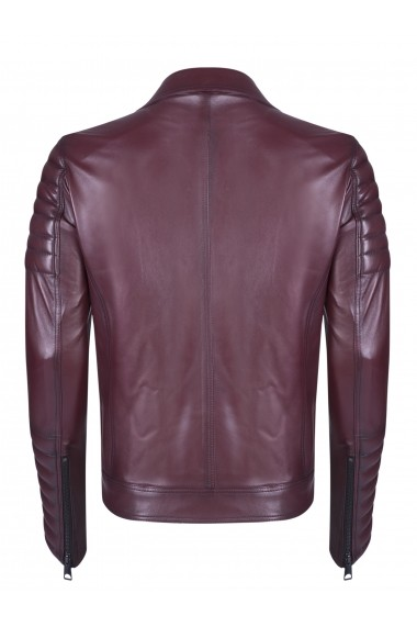 Jacheta din piele FELIX HARDY FE4650289 Bordo