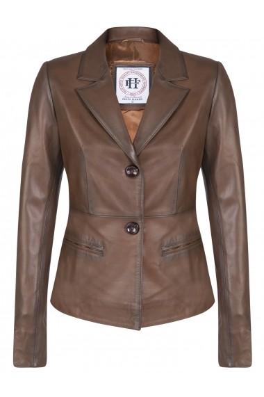 Jacheta din piele FELIX HARDY FE2055086 Maro