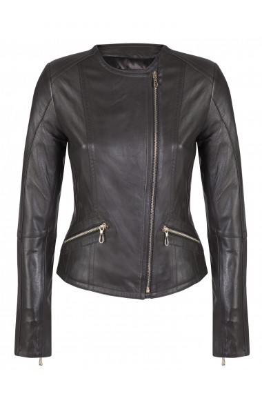 Jacheta din piele FELIX HARDY FE3645276 Maro