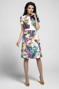 Rochie NAOKO GLB-AT196 PAINTED FLOWERS Multicolora