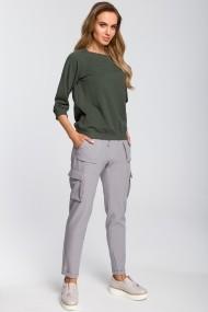Pantaloni drepti Made of Emotion M425 Gri