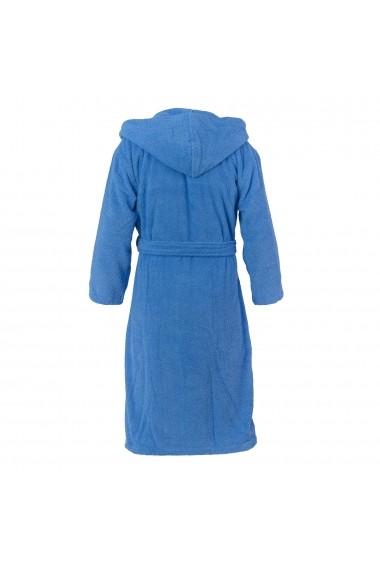 Halat de baie Casa di Bassi GLB-Hooded bathrobe-Aqua Albastru
