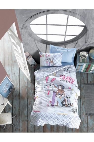 Set lenjerie de pat pentru copii Cotton Box 129CTN3027 Multicolor