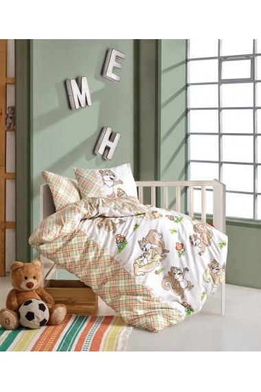 Set lenjerie de pat pentru copii Cotton Box 129CTN3033 Multicolor