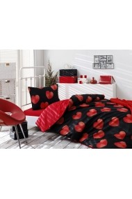 Set lenjerie de pat single Eponj Home 143EPJ1774 Negru