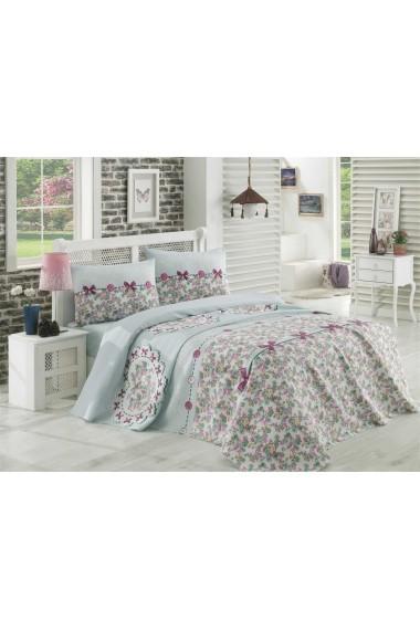 Set lenjerie de pat dublu Eponj Home 143EPJ6059 Floral