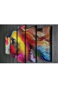 Tablou decorativ (5 bucati) Symphony 762SYM4279 multicolor