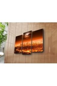Set 3 tablouri din panza Bonanza ASR-242BNZ3213 Multicolor