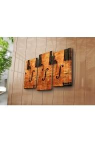 Set 3 tablouri din panza Bonanza ASR-242BNZ3214 Multicolor