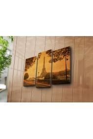 Set 3 tablouri din panza Bonanza ASR-242BNZ3216 Multicolor