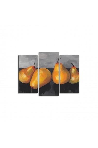 Set 3 tablouri din panza Bonanza ASR-242BNZ3222 Multicolor