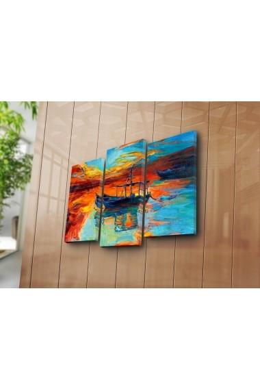 Set 3 tablouri din panza Bonanza ASR-242BNZ3225 Multicolor