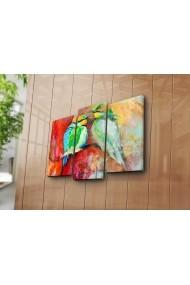 Set 3 tablouri din panza Bonanza ASR-242BNZ3226 Multicolor