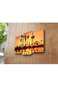 Set 3 tablouri din panza Bonanza ASR-242BNZ3227 Multicolor