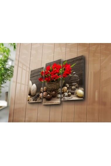 Set 3 tablouri din panza Bonanza ASR-242BNZ3230 Multicolor