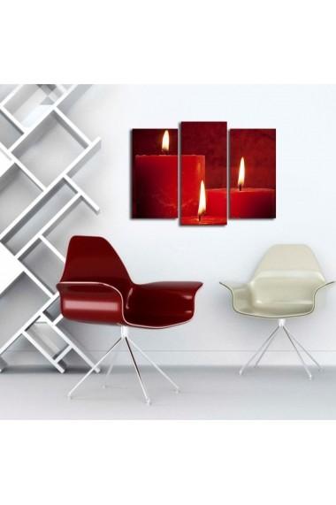 Set 3 tablouri din panza Bonanza ASR-242BNZ3259 Multicolor
