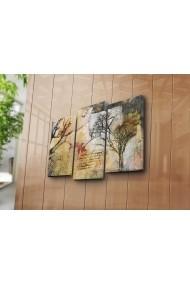 Set 3 tablouri din panza Bonanza ASR-242BNZ3268 Multicolor