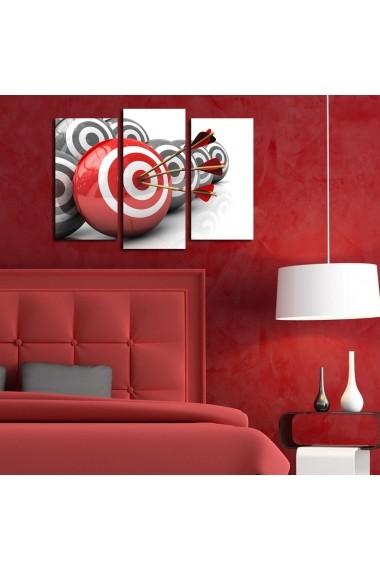 Set 3 tablouri din panza Bonanza ASR-242BNZ3273 Multicolor
