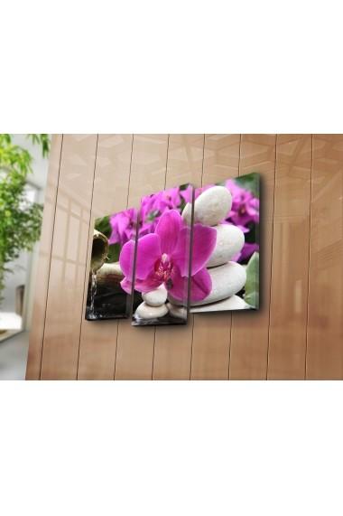Set 3 tablouri din panza Bonanza ASR-242BNZ3276 Multicolor