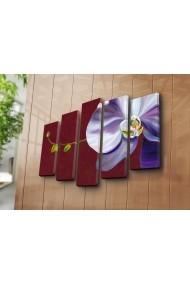Set 5 tablouri din panza Bonanza ASR-242BNZ5202 Multicolor