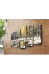 Set 5 tablouri din panza Bonanza ASR-242BNZ5203 Multicolor