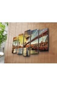 Set 5 tablouri din panza Bonanza ASR-242BNZ5212 Multicolor