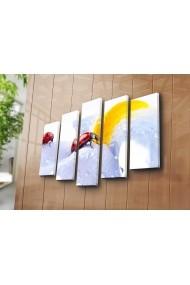 Set 5 tablouri din panza Bonanza ASR-242BNZ5214 Multicolor